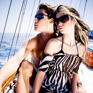 Moda Optique Models on Boat