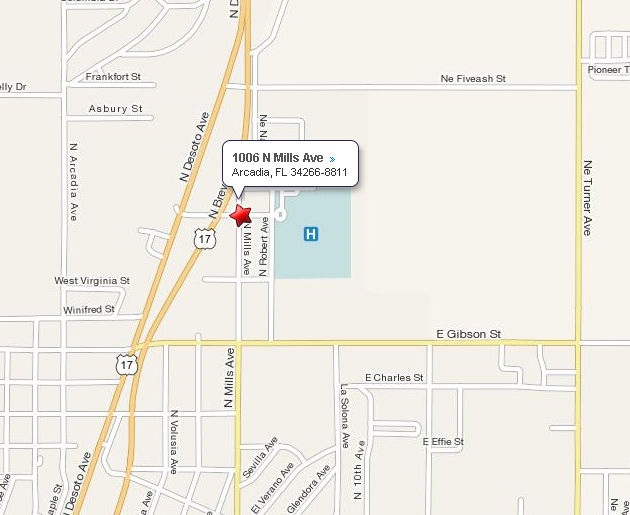Map To DeSoto Office