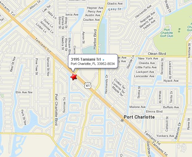 Map Of Port Charlotte Florida.Map To Port Charlotte Office Florida Eye Laser Institute